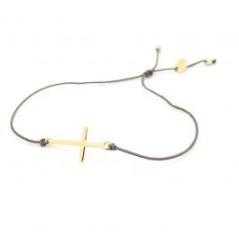 Bracelet croix plaquée or