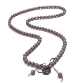 Dark grey beads long necklace by Zoe Bonbon