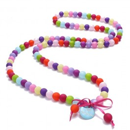 Multicolor beads long necklace by Zoe Bonbon