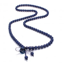 Navy beads long necklace by Zoe Bonbon