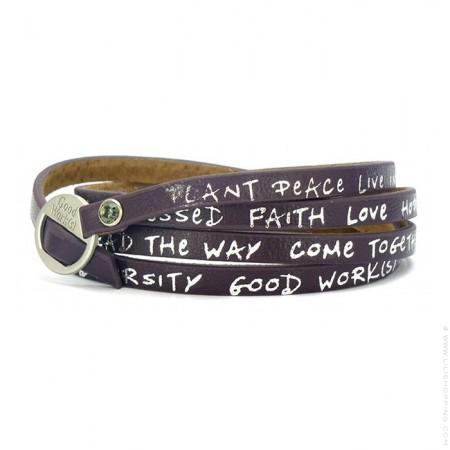 Eggplant new regular wrap bracelet