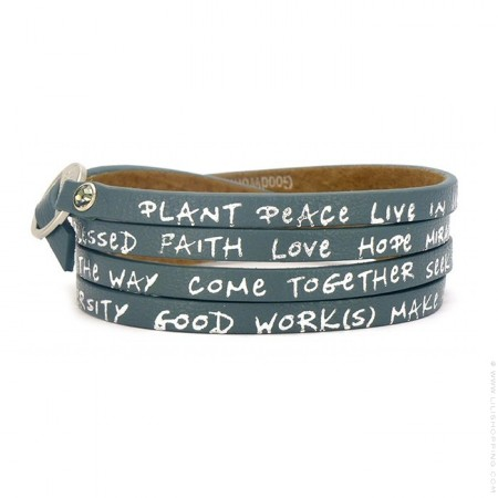 Teal new regular wrap bracelet