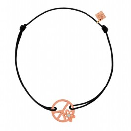 Bracelet mini Peace & Love plaqué or rose