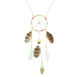 Hipanema dreamcatcher long necklace