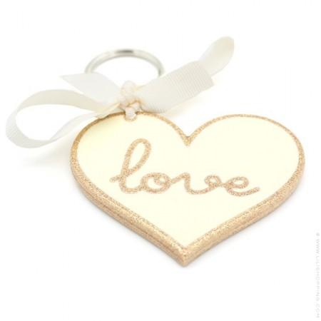 Love glitter keychain