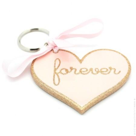 Forever glitter keychain