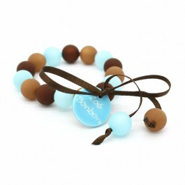 Bracelet enfant turquoise et choco