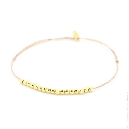 Bracelet lurex et pépites plaquées or