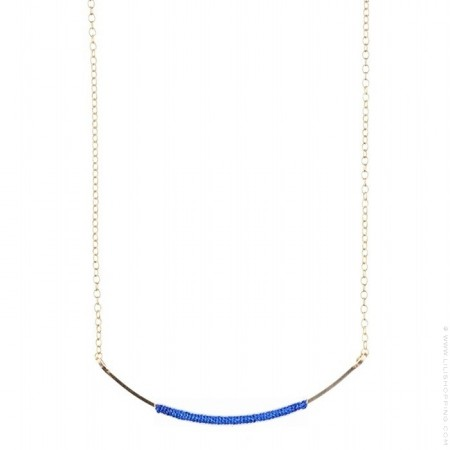 Collier wrappé plaqué or royal blue