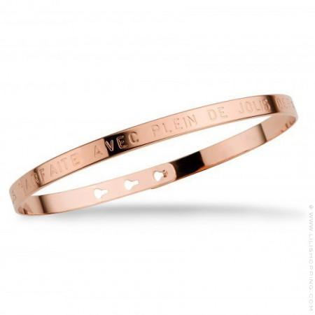 Bracelet Je suis parfaite avec plein de jolis défauts plaqué or rose
