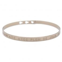Bracelet Je suis parfaite avec plein de jolis défauts plaqué or chocolat