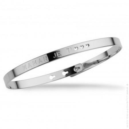 Maman je t'♡♡♡ silver platted bracelet