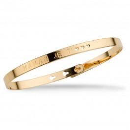 Maman je t'♡♡♡ gold platted bracelet