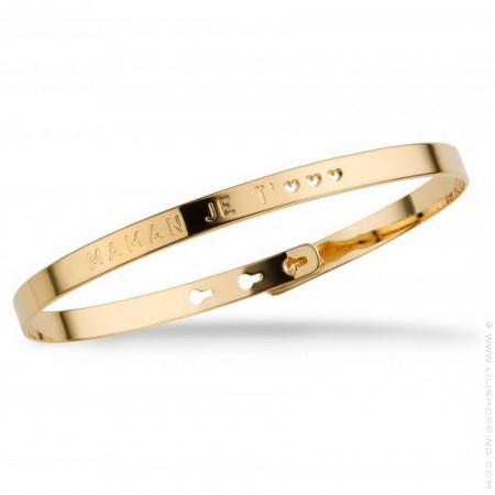 Bracelet Maman je t'♡♡♡ plaqué or