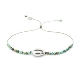 Bracelet playa, coquillage en argent et pierres