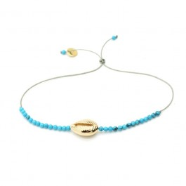 Gold platted seashell bracelet