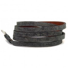Black around eco wrap bracelet