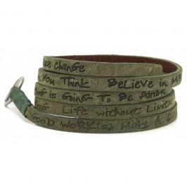 Olive around eco wrap bracelet