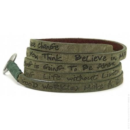 Olive around eco wrap bracelet