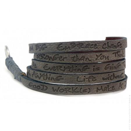 Grey around eco wrap bracelet