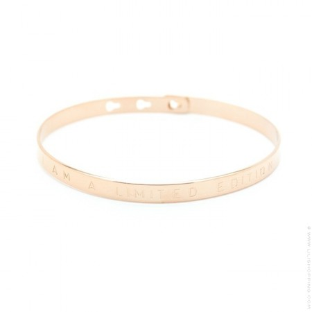 Bracelet enfant I am a limited edition plaqué or rose