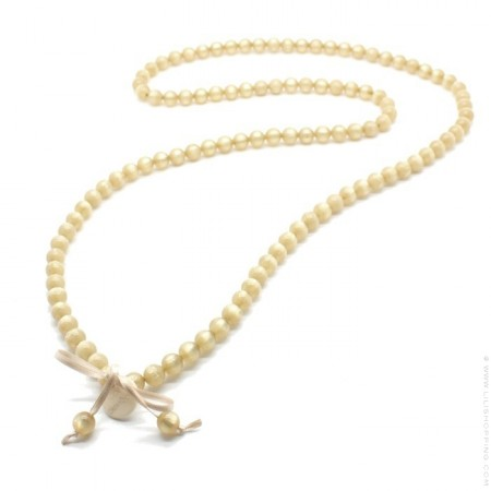 Honey gold beads long necklace by Zoe Bonbon