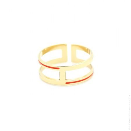Brighton coral ring
