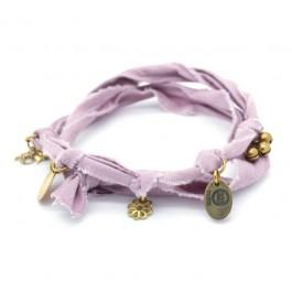 Bracelet doudou vieux rose / parme Marie Depaire