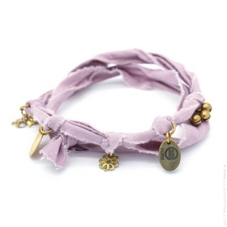 Bracelet doudou vieux rose / parme