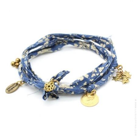 Blue Vintage Flower Bracelet