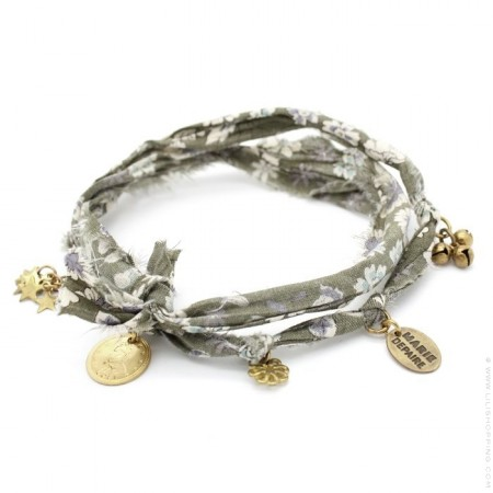 Bracelet doudou flower kaki