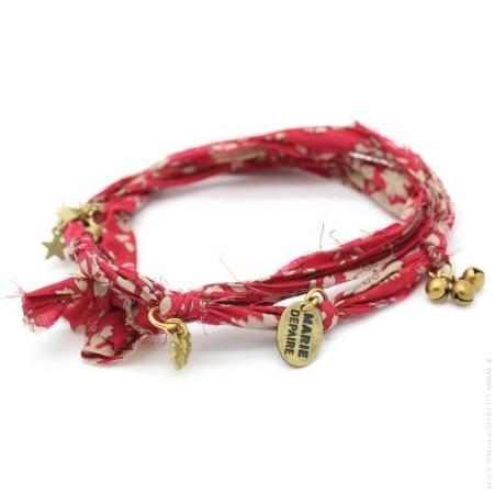Bracelet doudou flower rouge