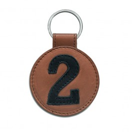Black and brown leather keychain n°2