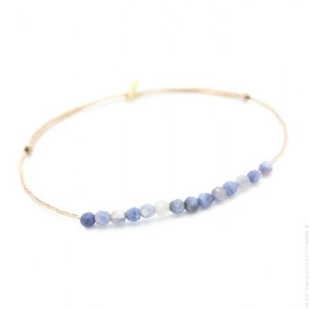 Bracelet Jade sur lien lurex