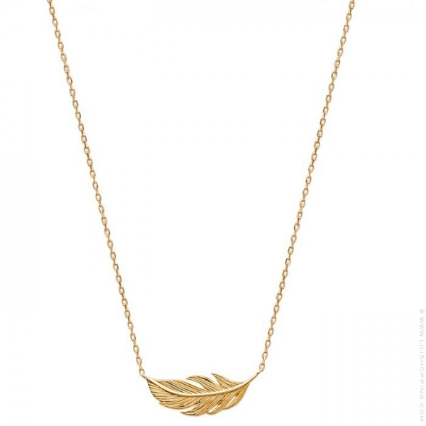 collier plume or