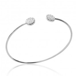 Sterling silver Romy bbangle with white zirconium