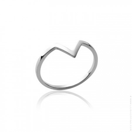 Silver V ring
