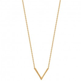 Gold platted V necklace