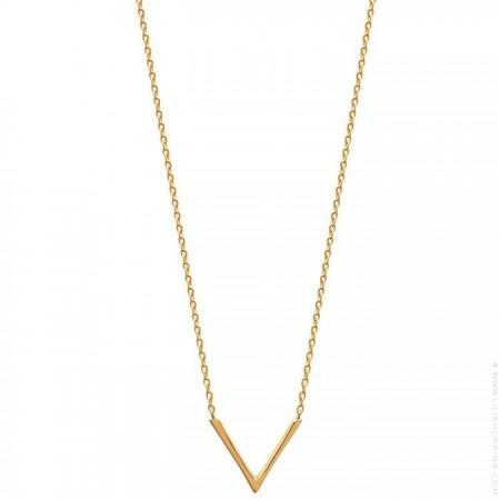 Gold platted V necklace