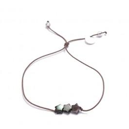 Bracelet 3 étoiles nacre noire