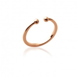 Pink gold platted ring