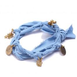 Bracelet doudou Marie Depaire bleu azur