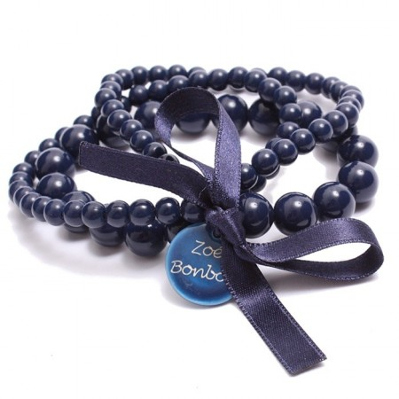 Navy blue triple size bracelet Zoe Bonbon