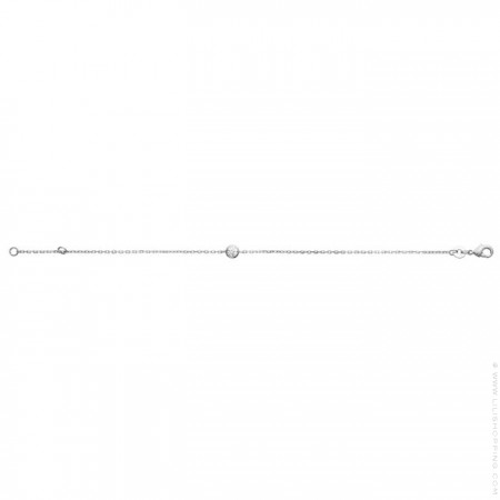 White zirconium silver bracelet