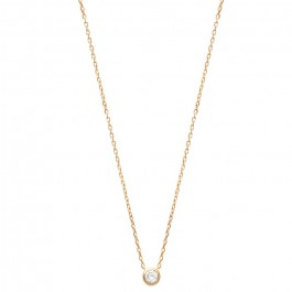 White zirconium 18k gold platted necklace