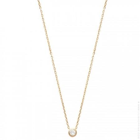 White zirconium 18k gold platted necklace