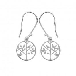 Silver life tree earrings