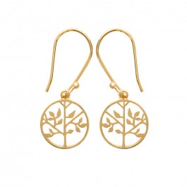 Gold platted life tree earrings