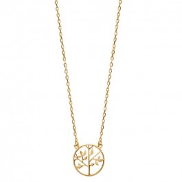 Gold platted life tree necklace