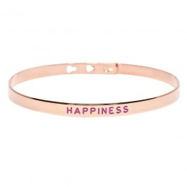 Happiness pink gold platted and painted bracelet